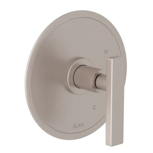 Satin Nickel Pirellone Pressure Balance Trim Without Diverter with Metal Lever