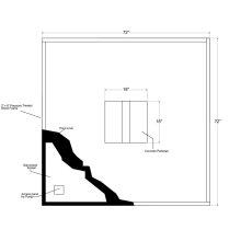 Fountain Installation Kit 6'x6'