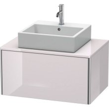 Vanity Unit For Console Wall-mounted, White Lilac High Gloss (lacquer)