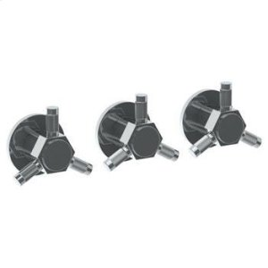 Wall Mounted 3-valve Shower Trim Product Image