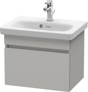 Vanity Unit Wall-mounted Compact, Concrete Gray Matte (decor) Product Image