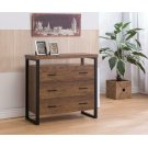 Rustic Amber Three-drawer Accent Cabinet Product Image
