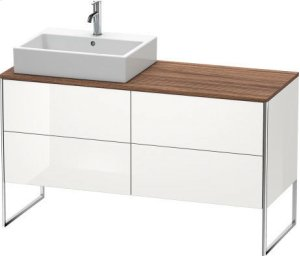 Vanity Unit For Console Floorstanding, White High Gloss (decor) Product Image