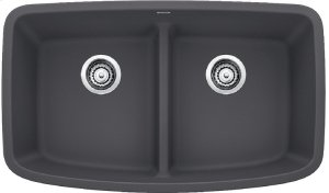 Blanco Valea® Equal Double Bowl With Low-divide - Cinder Product Image