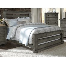 6/6 King Slat Headboard - Distressed Dark Gray Finish