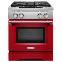 30'' 4-Burner Dual Fuel Freestanding Range, Commercial-Style Signature Red