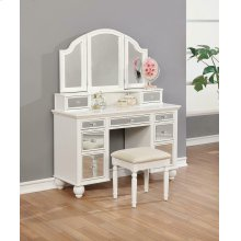 Transitional Beige and White Vanity Set