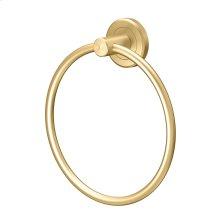 Latitude2 Towel Ring in Brushed Brass