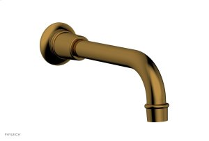 HEX MODERN Wall Tub Spout 3-555 - French Brass Product Image