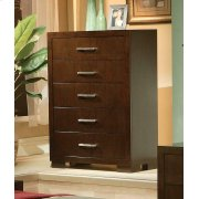 Jessica Cappuccino Five-drawer Chest Product Image