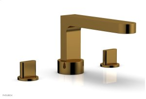 ROND Deck Tub Set - Blade Handles 183-40 - French Brass Product Image