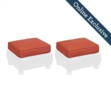 Breckenridge Ottoman Replacement Cushion (Set of 2), Brick Red
