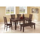 Dalila Cappuccino Dining Bench Product Image