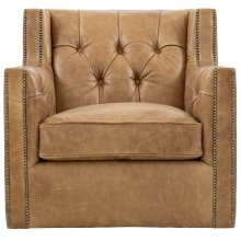 Candace Swivel Chair in #44 Antique Nickel