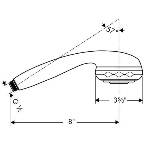 Chrome Handshower 3-Jet, 2.5 GPM