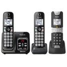 Link2Cell Bluetooth® Cordless Phone with Voice Assist and Answering Machine - 2 Standard Handsets + 1 Rugged Handset - KX-TGD583M2 Product Image