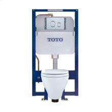 Aquia® Wall-Hung Toilet & DUOFIT In-Wall Tank System, 1.6 GPF & 0.9 GPF, Elongated Bowl - Matte Silver