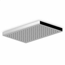 370x240 mm ceiling mounted stainless steel rain shower system. Minimum flowrate requested: 12 lt. / min.