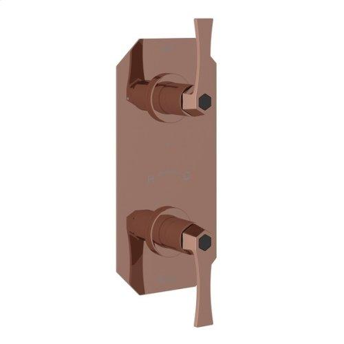 "Rose Gold Bellia 1/2"" Thermostatic/Diverter Control Trim"