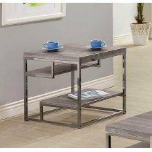 Modern Dark Grey End Table