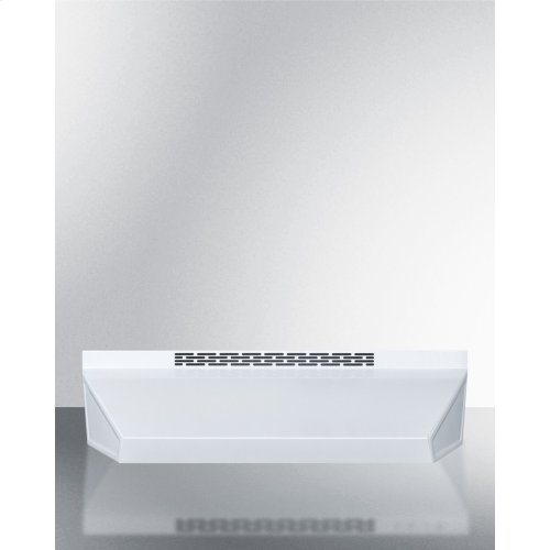 20 Inch Wide ADA Compliant Convertible Range Hood for Ducted or Ductless Use In White With Remote Wall Switch