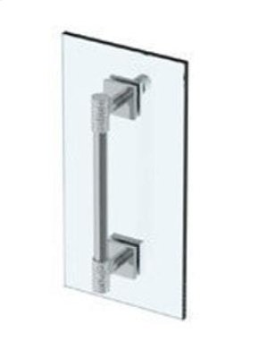 "Sense 18"" Shower Door Pull With Knob / Glass Mount Towel Bar With Hook Product Image"