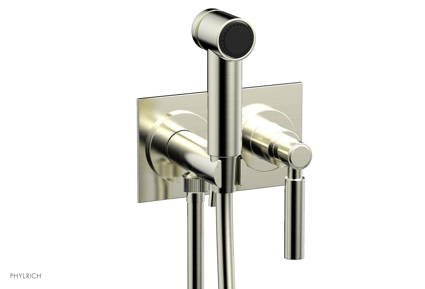 BASIC Wall Mounted Bidet, Lever Handle 130-65 - Satin Nickel