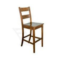 "30""H Tuscany Ladderback Barstool w/ Wood Seat"