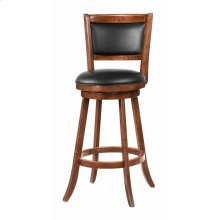 Transitional Chestnut Swivel Bar Stool