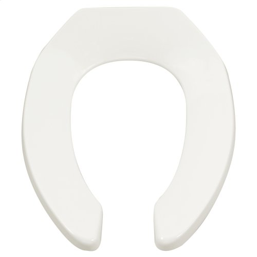 Heavy Duty Commercial Toilet Seat with Self-Sustaining Hinge  American Standard - White