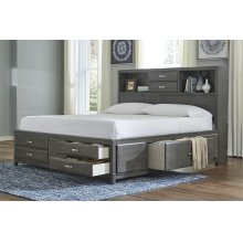 Caitbrook - Gray 3 Piece Bed Set (Cal King)