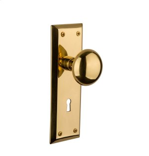 Nostalgic - Passage Knob - New York Plate with New York Knob and Keyhole in Polished Brass Product Image