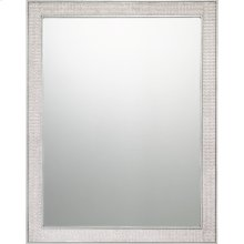 Evoke Mirror in Silver Leaf
