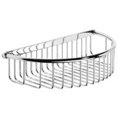 """Antique Gold Shower basket with concealed fix, 10 1/4"""" W x 2 7/16"""" D"""