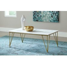 Modern White and Gold Coffee Table