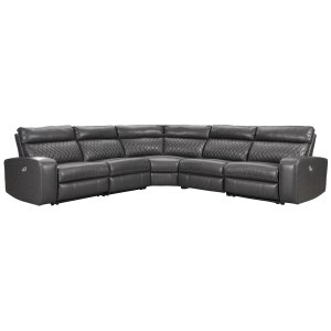 Samperstone - Gray 5 Piece Sectional