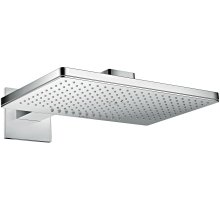 Chrome Overhead shower 460/300 2jet with shower arm and square escutcheon