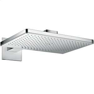 Chrome Overhead shower 460/300 2jet with shower arm and square escutcheon Product Image