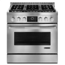 "Pro-Style® 36"" Gas Range with MultiMode® Convection Stainless Steel"