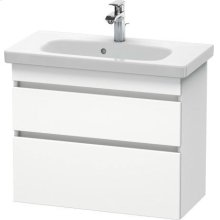 Vanity Unit Wall-mounted Compact, White Matte