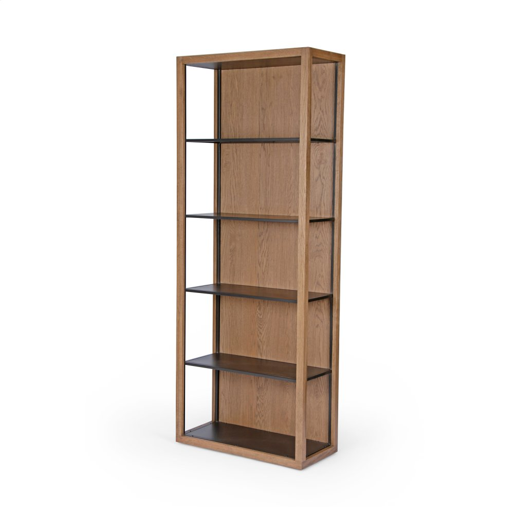 Josiah Bookcase-drifted Oak/waxed Black