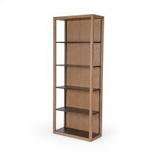 Josiah Bookcase-drifted Oak/waxed Black