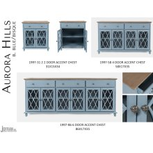 Aurora Hills 2 Door Accent Chest-b. Blue/bisque
