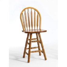 Classic Oak Chestnut Arrow Counter Stool