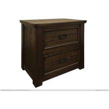 2 Drawer, Night Stand, Parota Wood