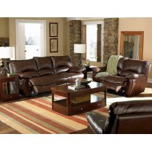 Clifford Motion Dark Brown Reclining Three-piece Living Room Set