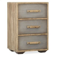 Bedroom Urban Elevation Three-Drawer Nightstand Product Image