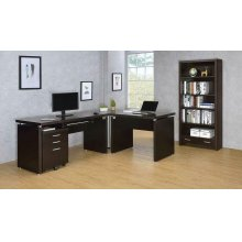 Skylar Contemporary Cappuccino Three-drawer File Cabinet