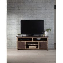 60 Inch Console - Distressed Dark Pine Finish