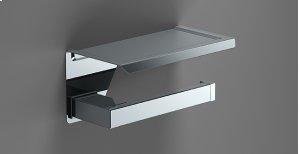 Chrome Shelf Toilet Roll Holder Product Image